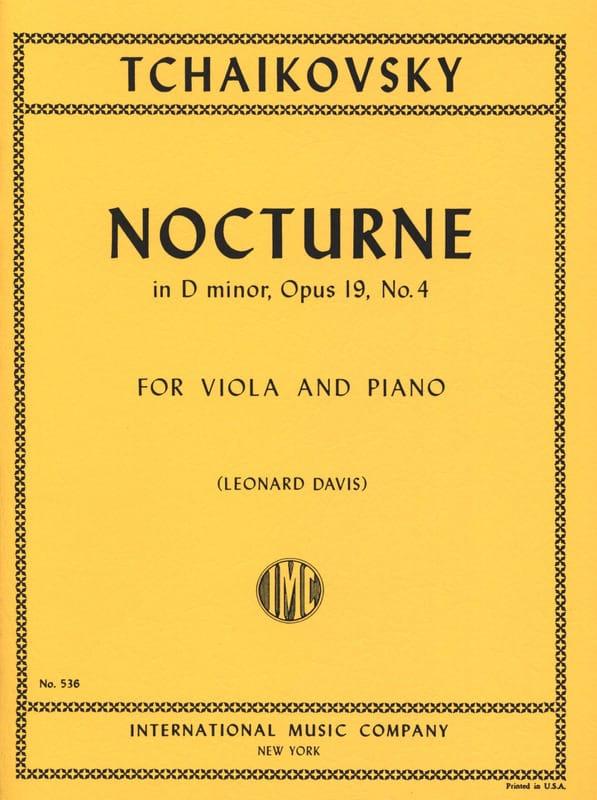 Nocturne in D minor, op. 19 n° 4 - TCHAIKOVSKY - laflutedepan.com