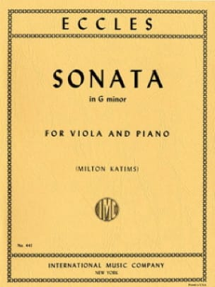 Henry Eccles - Sonata in G minor - Viola - Partition - di-arezzo.fr