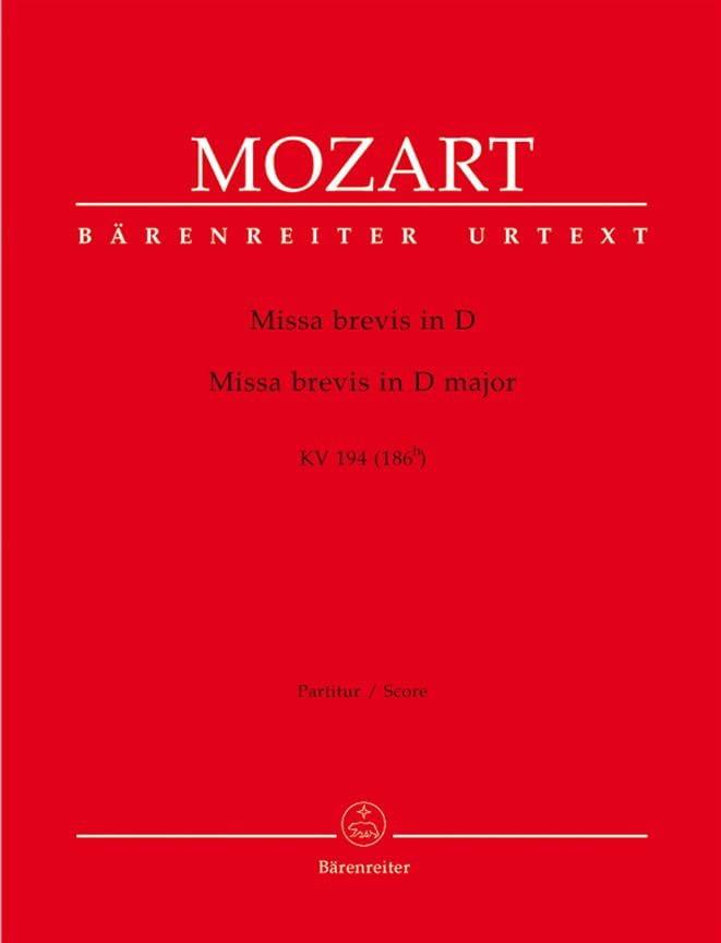 Missa brevis in D-Dur KV 194 - Partitur - MOZART - laflutedepan.com