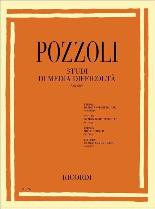 Etudes de Moyenne Difficulté - Ettore Pozzoli - laflutedepan.com