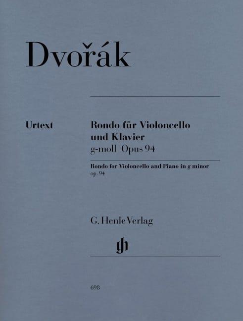 DVORAK - Rondo in G minor op. 94 for cello and piano - Partition - di-arezzo.co.uk