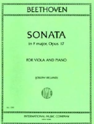 BEETHOVEN - Sonata in F major, op. 17 - Viola - Partition - di-arezzo.com