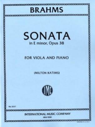 Sonata in E minor, op. 38 - Viola - BRAHMS - laflutedepan.com