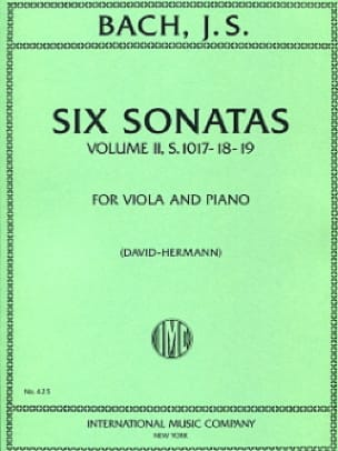 BACH - 6 Sonatas, Volume 2 transcr. BWV 1017-1019 - Partition - di-arezzo.co.uk