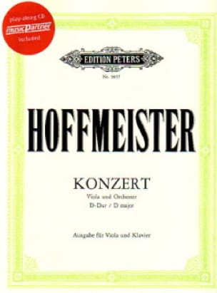 Franz Anton Hoffmeister - Altkonzert in D-Dur - Partition - di-arezzo.de