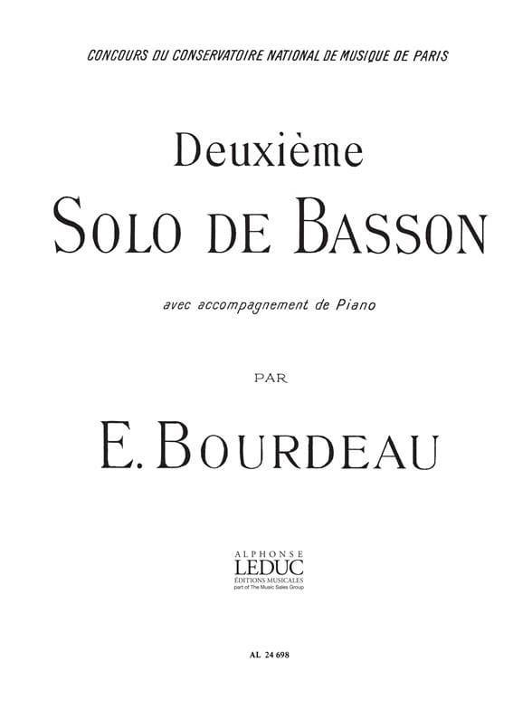 Eugène Bourdeau - Second bassoon solo - Partition - di-arezzo.com
