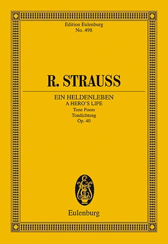 Richard Strauss - Ein Heldenleben Op.40 - Partition - di-arezzo.co.uk