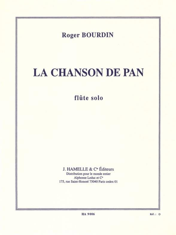 Roger Bourdin - The song of Pan - Partition - di-arezzo.co.uk