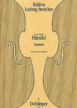 Andante - Double bass - HAENDEL - Partition - laflutedepan.com