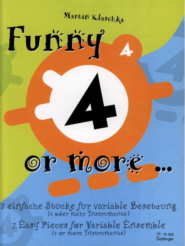 Funny 4 or More... - Martin Klaschka - Partition - laflutedepan.com