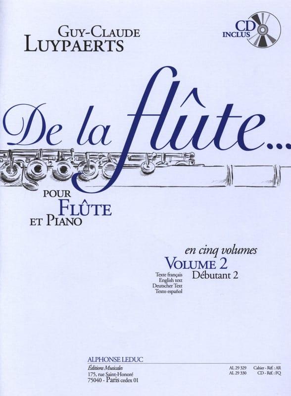 De la flûte... - Volume 2 - Guy-Claude Luypaerts - laflutedepan.com