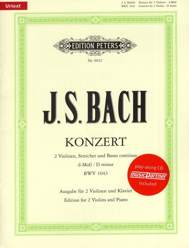 BACH - Concerto 2 Violins BWV 1043 min. - Partition - di-arezzo.co.uk