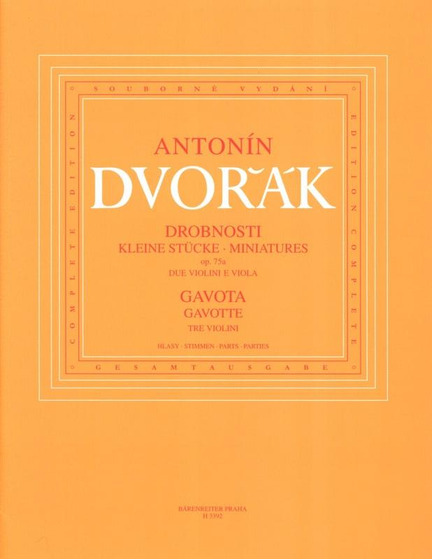 DVORAK - Miniatures op. 75a and Gavotte - Partition - di-arezzo.com