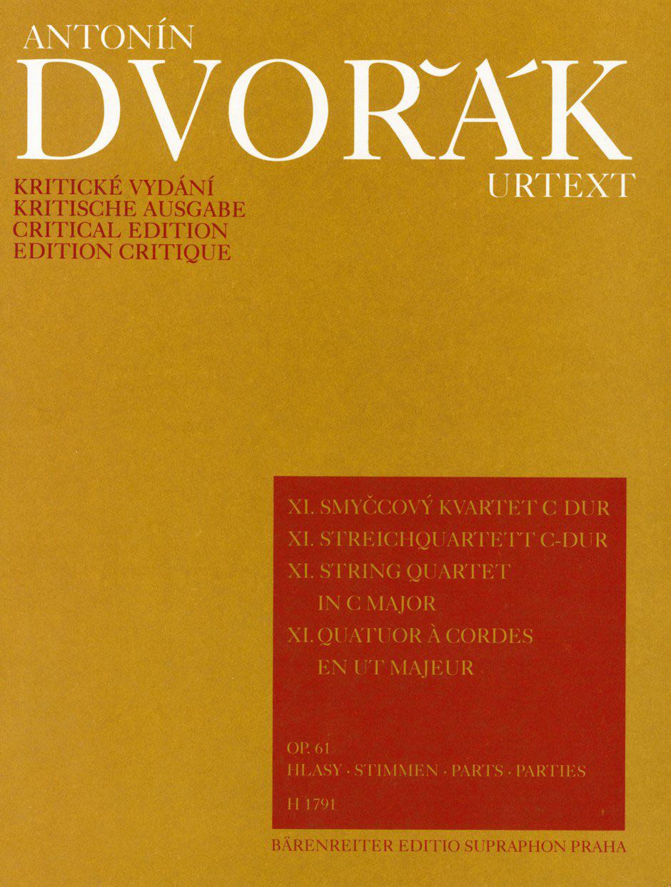 String Quartet n° 11 op. 61 - DVORAK - Partition - laflutedepan.com