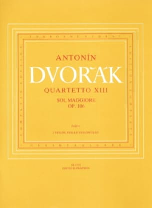 DVORAK - String quartet No. 13 G major op. 106 - Parts - Partition - di-arezzo.co.uk