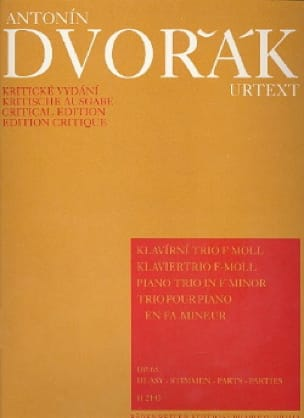 Klaviertrio f-moll op. 65 -Stimmen - DVORAK - laflutedepan.com