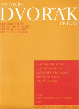 DVORAK - Klaviertrio B-Dur op. 21 - Stimmen - Partition - di-arezzo.co.uk