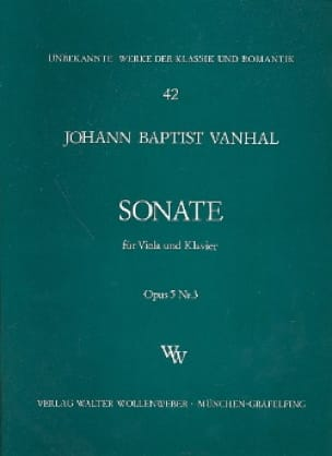 Johann Baptist Vanhal - Sonate op. 5 n° 3 - Partition - di-arezzo.fr