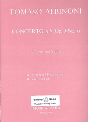 Concerto en Sol Majeur à 5, Opus 9 N° 6 - Matériel Complet - laflutedepan.com