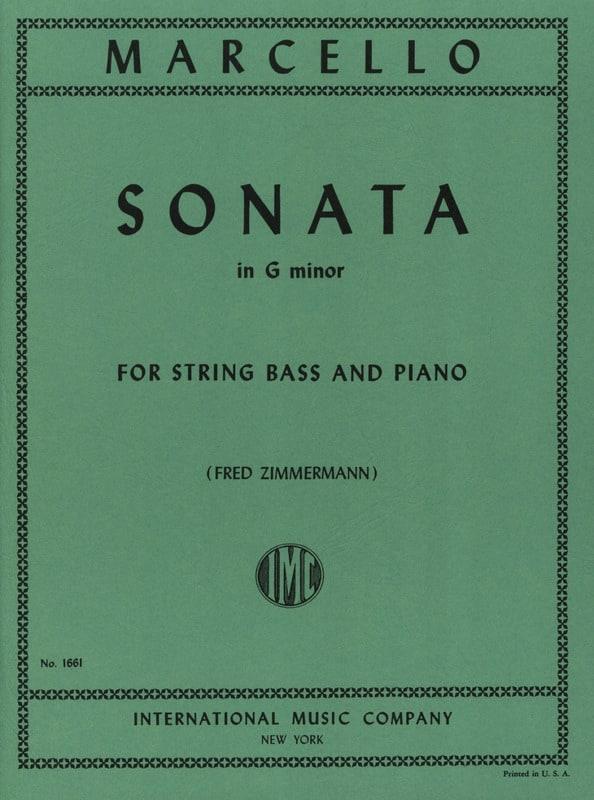 Sonate G minor - String bass - Benedetto Marcello - laflutedepan.com