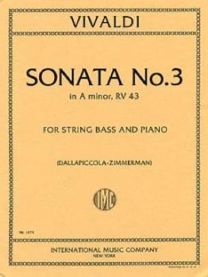 VIVALDI - Sonata No. 3 in A minor - Partition - di-arezzo.co.uk