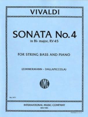 VIVALDI - Sonata No. 4 en si bemol mayor. - Bajo de cuerda. - Partition - di-arezzo.es