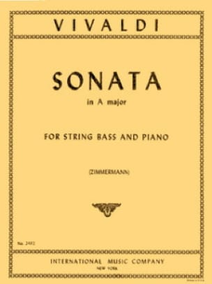 VIVALDI - Sonata en A maj. - Bajo String - Partition - di-arezzo.es