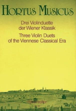 3 Violinduette der Wiener Klassik - Partition - laflutedepan.com