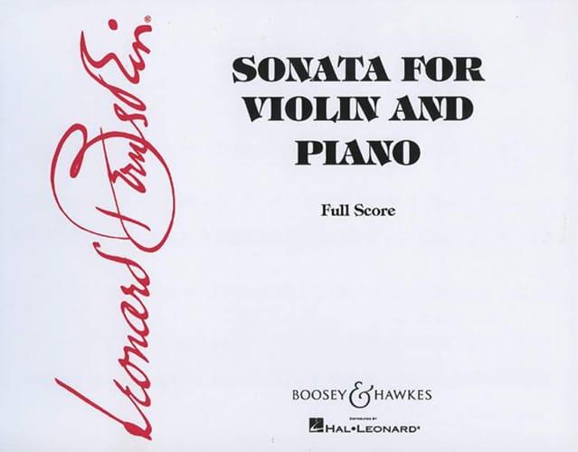 Leonard Bernstein - Sonata para violín y piano - Partition - di-arezzo.es