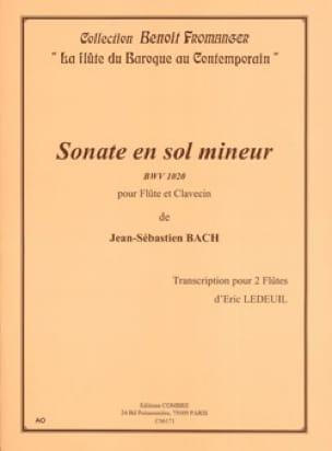 Sonate en sol mineur BWV 1020 - BACH - Partition - laflutedepan.com