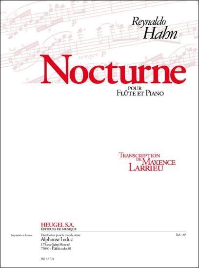 Nocturne - Reynaldo Hahn - Partition - laflutedepan.com