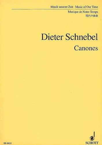 Canones - Partitur - Dieter Schnebel - Partition - laflutedepan.com