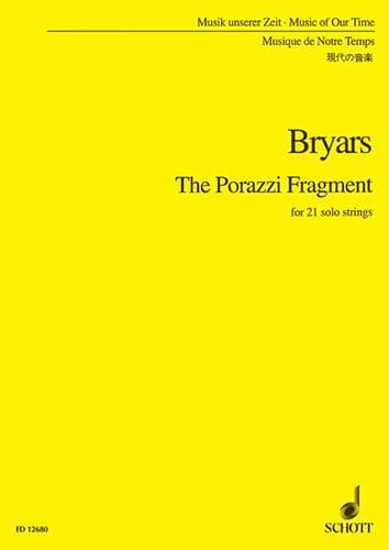 The Porazzi Fragment - Conducteur - Gavin Bryars - laflutedepan.com