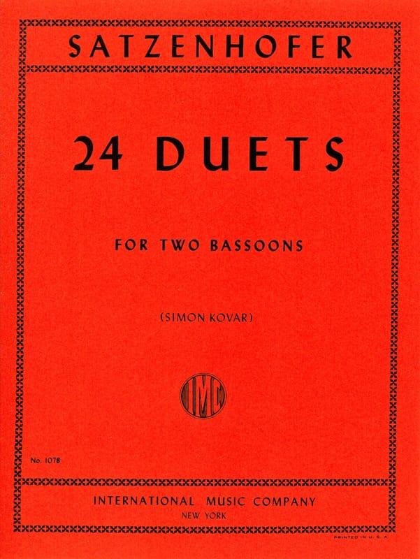 24 Duets - 2 Bassons - Satzenhofer - Partition - laflutedepan.com