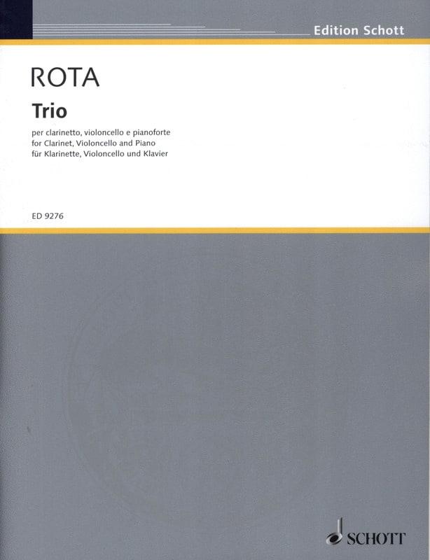 Trio -Clarinetto cello piano - ROTA - Partition - laflutedepan.com