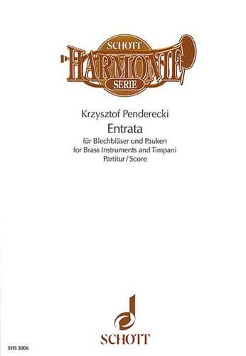 Entrata - Partitur - Krzysztof Penderecki - laflutedepan.com