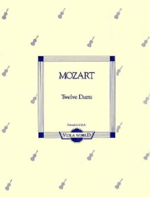 12 Duets KV 487 - MOZART - Partition - Alto - laflutedepan.com