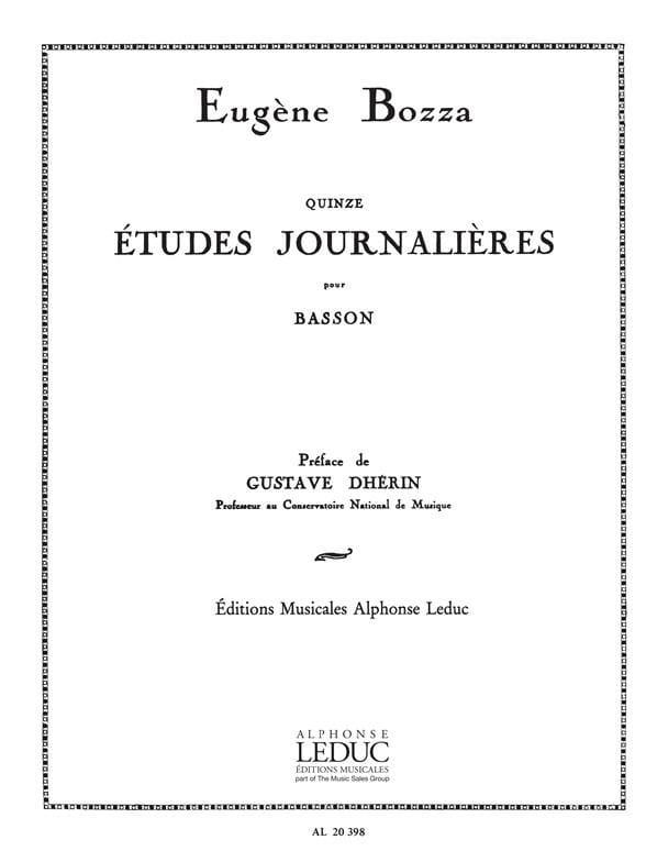 15 Etudes journalières op. 64 - Eugène Bozza - laflutedepan.com