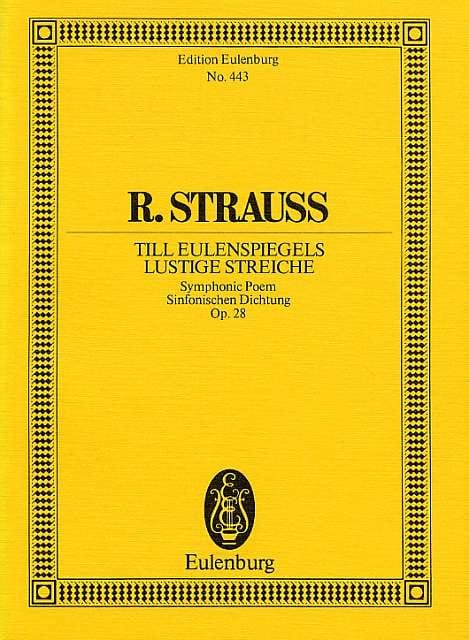 Richard Strauss - Till Eulenspiegels Lustige Streiche, Opus 28 - Partition - di-arezzo.co.uk
