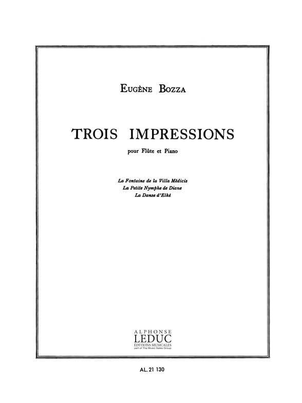 Eugène Bozza - 3 impresiones - Partition - di-arezzo.es