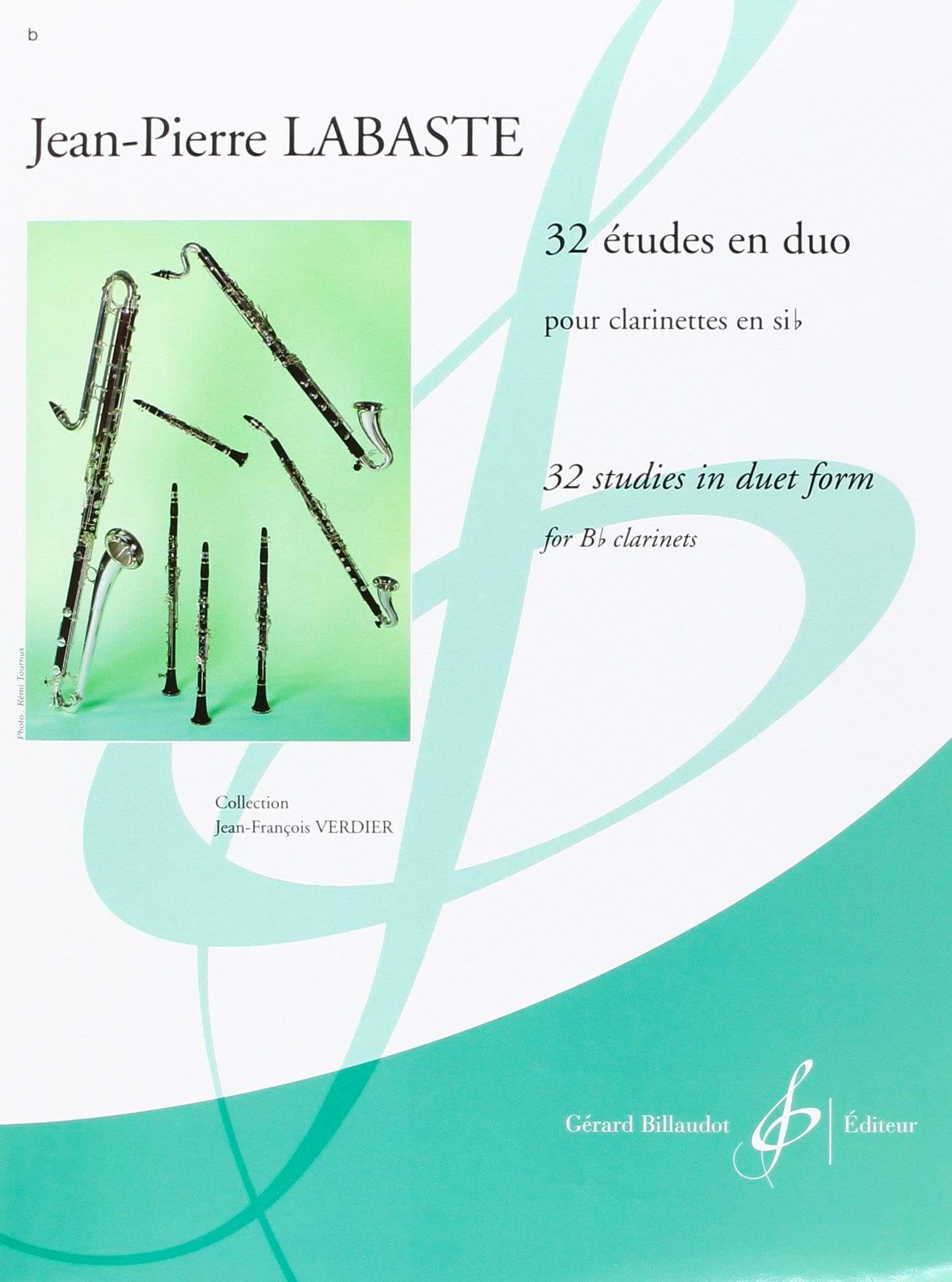Jean-Pierre Labaste - 32 Studies in duo - Partition - di-arezzo.co.uk
