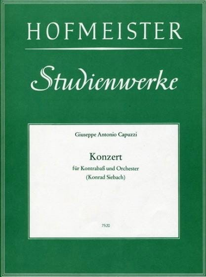 Giuseppe Antonio Capuzzi - Konzert - Kontrabass - Partition - di-arezzo.co.uk