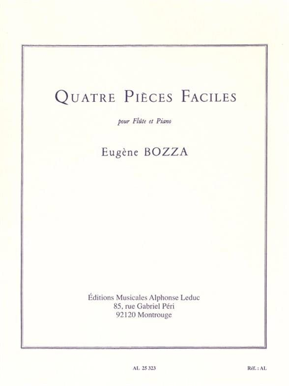 Eugène Bozza - 4 partes fáciles - Partition - di-arezzo.es
