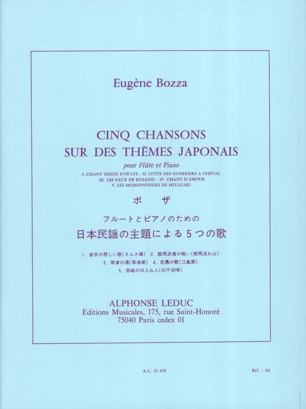 Eugène Bozza - 5 canciones en temas japoneses - Partition - di-arezzo.es