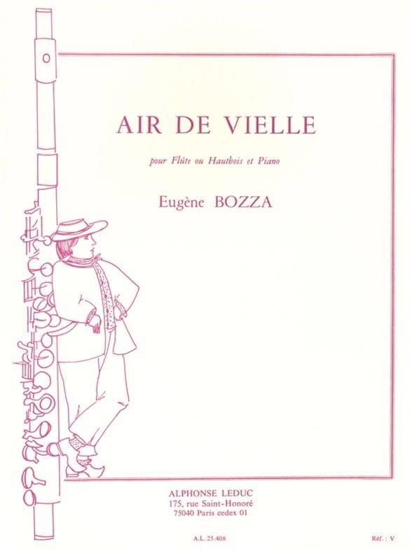 Eugène Bozza - Air de vielle - Flauta u oboe piano - Partition - di-arezzo.es