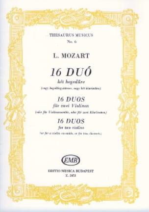 16 Duos pour violons - Leopold Mozart - Partition - laflutedepan.com