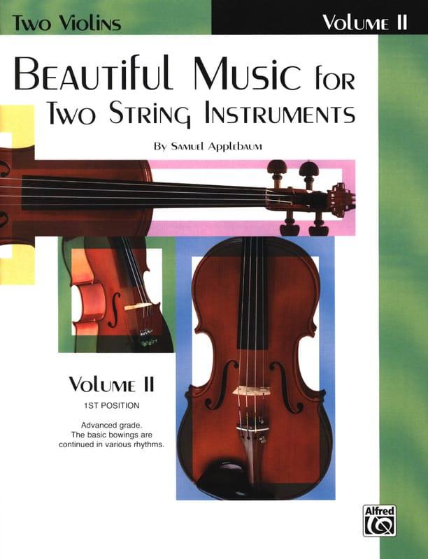 Beautiful Music For 2 Violons Volume 2 - laflutedepan.com