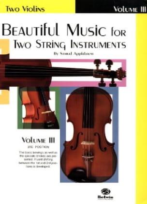 Beautiful Music For 2 Violons Volume 3 - laflutedepan.com