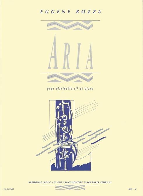 Eugène Bozza - Aria - Clarinet - Partition - di-arezzo.com