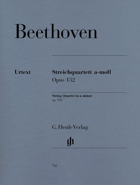 BEETHOVEN - String Quartet in A minor op. 132 - Partition - di-arezzo.co.uk